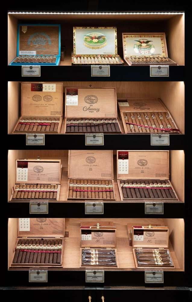 Pívat Cigar Lounge Cigars On Shelves