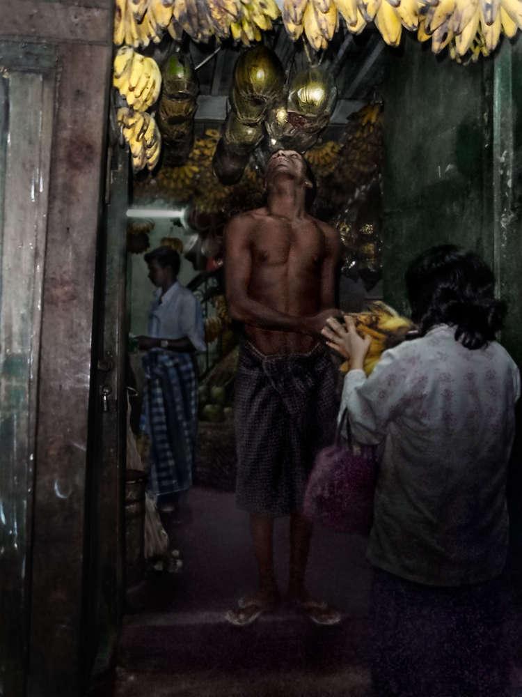 Myanmar Banana Seller