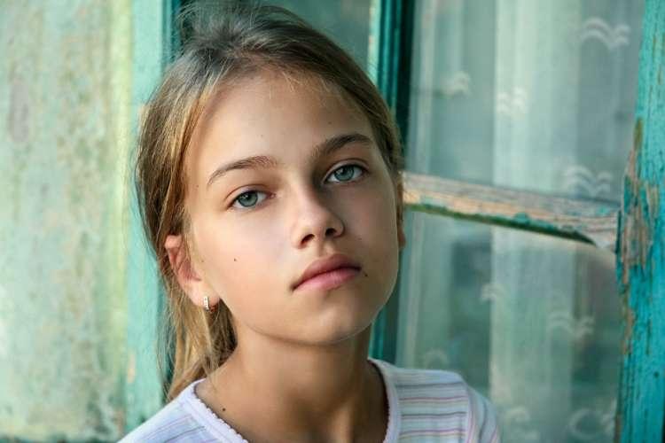 Green-eyed girl
